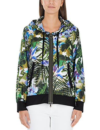 Marc Cain Sports JS 12.08 W24 Cappotto, Multicolore (Rain Forest 582), 44(Taglia del Produttore: N3 / 38) Donna