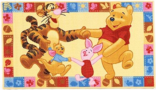 ABC Disney Tapis pour enfant dans un motif Disney Winnie l'ourson & ses amis 170 x 100 cm