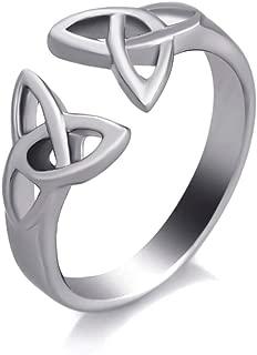 Stainless Steel Celtic Knot Ring Jewelry Accessories Scandinavian Men Women