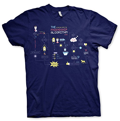 Officially Licensed Merchandise The Friendship Minions Algorithm T-Shirt (Navy), Medium