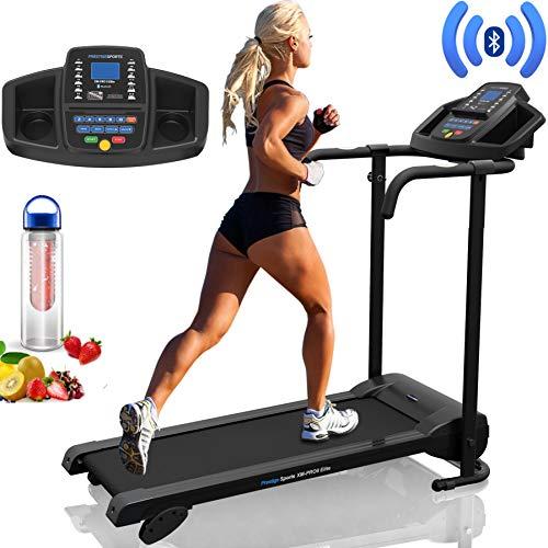 PrestigeSports XM-PROII Elite Treadmill with Bluetooth - 2019 Model, Motorized Running Machine,10KPH, 3 Level Manual Incline, 12 Programs