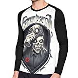 DTRTSPH Psycho Realm Men's Fashion Casual Round Neck Printed Long Sleeve T-Shirt Black