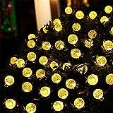 Lyjun Bombillas con energía Solar de 10m 50 LED LED Luces de Cadena LED para iluminación al Aire Libre Courtyard Street Garden LED Luces de Hadas Guirnalda de Navidad