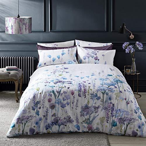 VOYAGE MAISON SORONG Violeta 220TC 100% algodón satén doble (funda nórdica 200 cm x 200 cm) 5 piezas juego de ropa de cama