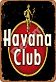 Besim Havana Club Rum Classic Vintage Metal Tin Signs for Cafe Pub Kitchen Street Home Retro Wall Decoration