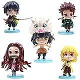 CYSJ Demon Slayer Cupcake Topper 5Pcs Figuras de acción Decoración de Tartas Figuras Decoración para Tarta de cumpleaños de Anime de Dibujos Animados del Fiesta Suministros