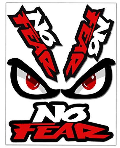 Biomar Labs® Conjunto de 4pcs Pegatina No Fear Eyes Angry Vinilo Adhesivo...