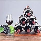 Renoble Tischplatte Weinregal Arbeitsplatte Display Wein Halter Weinflasche Organizer Für Home Kitchen Bar Flaschenregal Flaschenhalter Für 6 Flaschen Wein richly