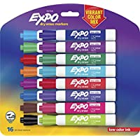 16-Count Expo Low-Odor Dry Erase Markers