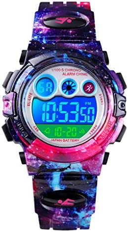 CKE Kids Watch for Boys Girls Waterproof Sports Digital Watches for Kids with Colorful LED Light product image