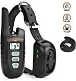 Dog Training Collar with Remote, Rechargeable Shock Collar with Beep/Vibration/Electric Shock/Light Modes for Medium Large Dogs(10-100 lbs)