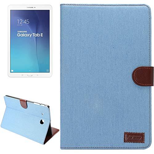 Wdckxy - Funda para Galaxy Tab E 9.6/T560 (piel), color liso, con tarjetero, color azul