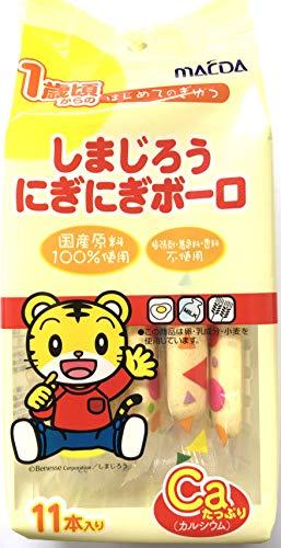 大阪前田製菓 しまじろうにぎにぎボーロ 11本 ×12袋
