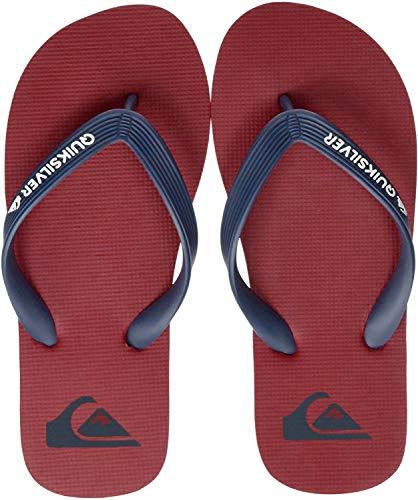Quiksilver Molokai Youth, Zapatos de Playa y Piscina Niños, Multicolor (Red/Blue Xrbr), 33 EU