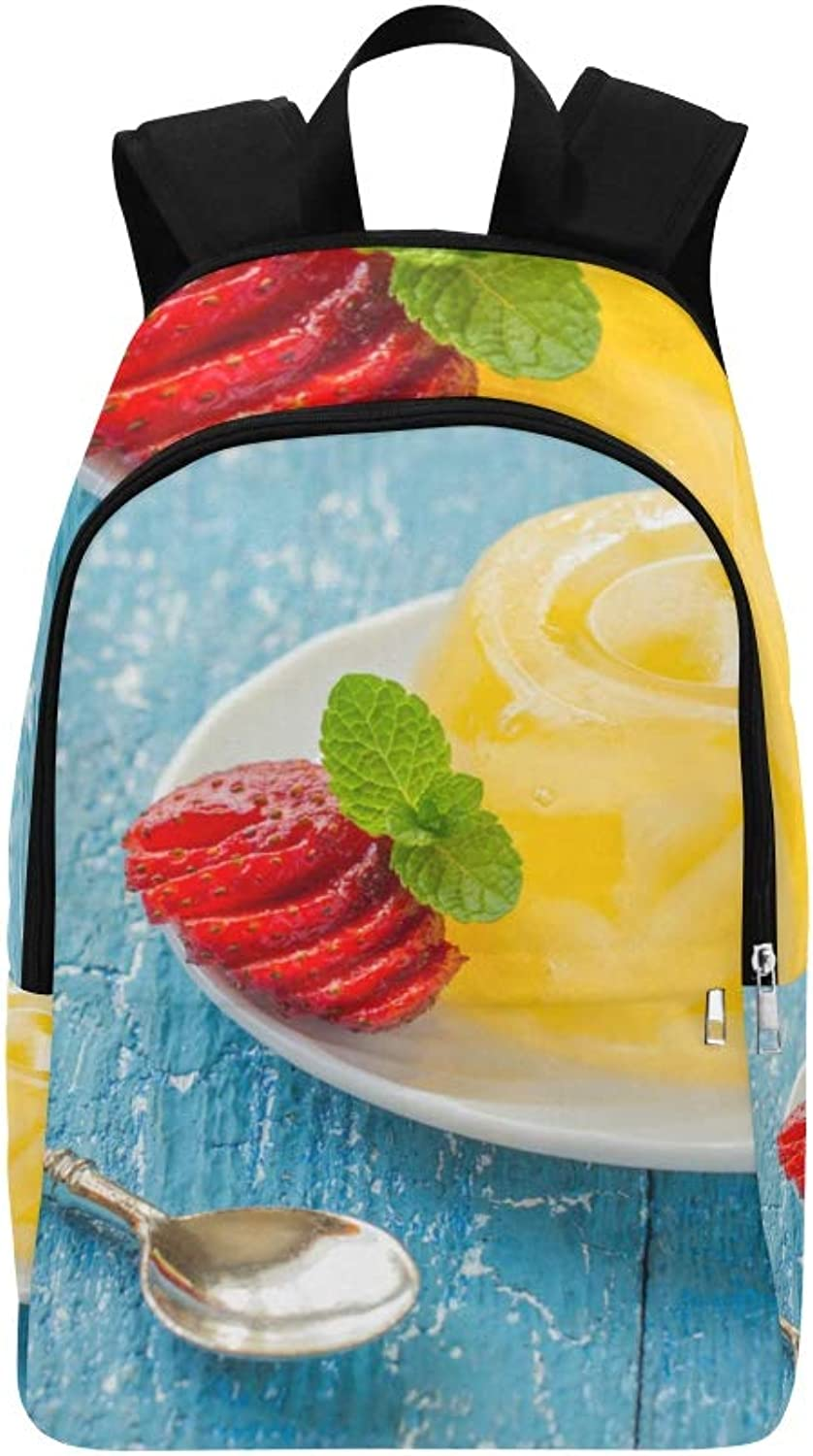 Berry Fruit Jelly with Fresh Fruit Casual Daypack Travel Bag College School Backpack for Mens and Women