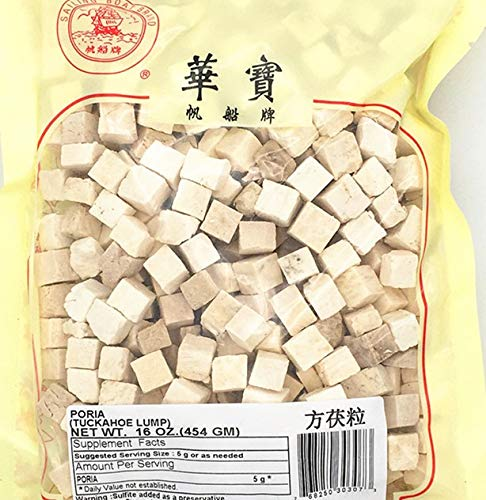 CHINESE HERB PORIA FU LING 茯苓 土茯苓 方茯粒 16oz