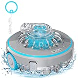 Bigzzia Cordless Robotic Pool Cleaner Powerful Suction 4000mAh Rechargeable Battery IPX8 Waterproof, Built-in Water Sensor Automatic Technology for In-Ground/Above Ground Swimming Pool