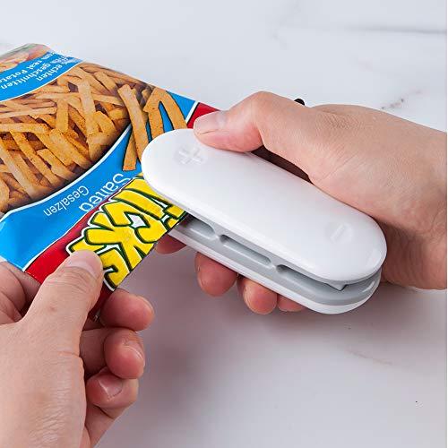 Folienschweißgerät, Mini Bag Sealer, Mini Hand-Folienschweißgerät, Mini Folienschweißgerät Tüten Verschweißer, 2 in 1 Tüten luftdicht Verschließen, Batteriebetrieben (Nicht enthalten)