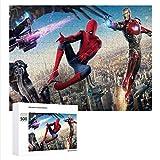 GD-SJK Marvel Spider-Man - Puzzle 3D de 500 piezas, diseño de Spider-Man, para adultos y niños, regalo para niños (52 x 38 cm, Spider-Man)