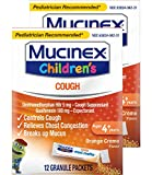 Mucinex Children's Chest Congestion Expectorant and Cough Suppressant Mini-Melts, Orange Cream, 12 Count (Packaging May Vary) (Pack of 2)