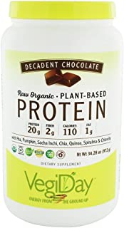 NATURAL FACTORS Protein Powder RAW Vegan Chocolate OG, 34 OZ