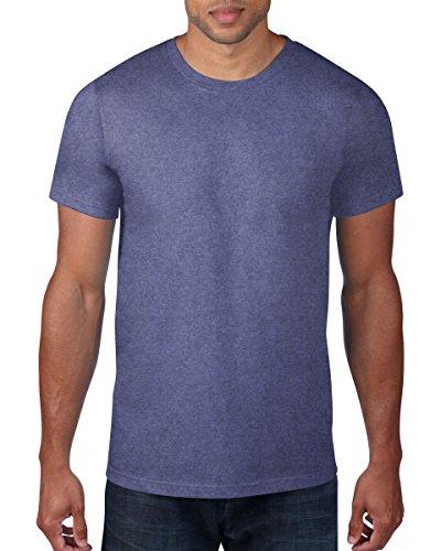 Anvil Men's Lightweight Tee T-Shirt, Gris, X-Large Homme