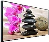 InfrarotPro | Infrarotheizung 750 Watt | Bildheizung 120x60x3 cm | Made in Germany | Ultra-HD Auflösung | Orchidee Harmony