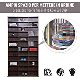 Immagine 2 homcom libreria modulare mobile porta