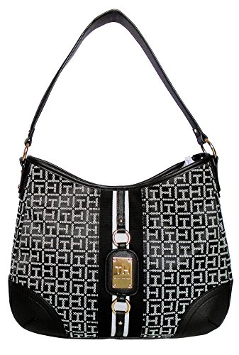 Tommy Hilfiger Leeds Hobo Black/White One Size