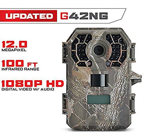 NZYMD Wildkamera mit Bewegungsmelder Nachtsicht 10MP und Speicherkarte, FLAGPOWER Wildkamera Full HD Jagdkamera 42 IR LEDs Infrarot 30m Überwachungskamera IP66 Wasserdicht 0.5s Auslösezeit.