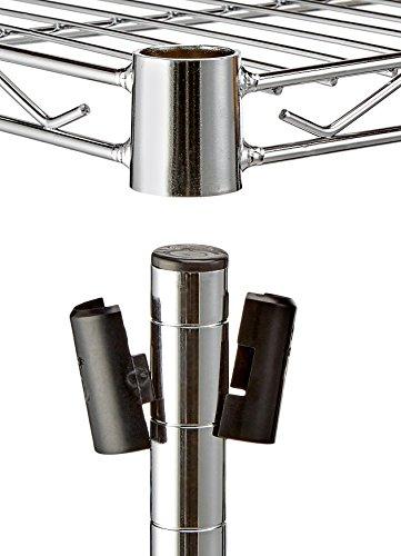 AmazonBasics - Estantería de 3 baldas, con ruedas - Cromado ...