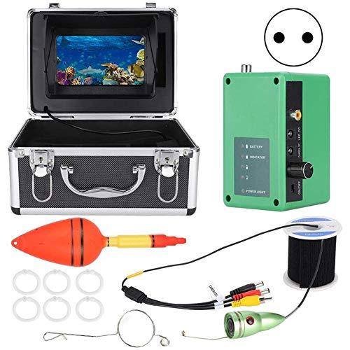 AFSDF Cámara subacuática con Cable de 30 m de Fisheye de 7 Pulgadas IR WiFi Monitor bajo el Agua Llamada de Video