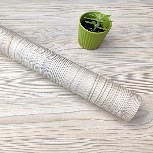 Decorflix Vinilo Papel Adhesivo para Muebles Para forrar amarios mesas estanterías paredes puertas. Vinilo Imitacion Madera Vintage Decorativo Autoadhesivo (Pino Beige Vintage, 60x300cm)