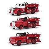 3 Unids/Set Modelo de Camión de Bomberos, Modelo de Vehículo de Juguete Aleación de Juguete de Coche Decoración de Simulación para Casa de Muñecas Cumpleaños Niños Regalos(#2)