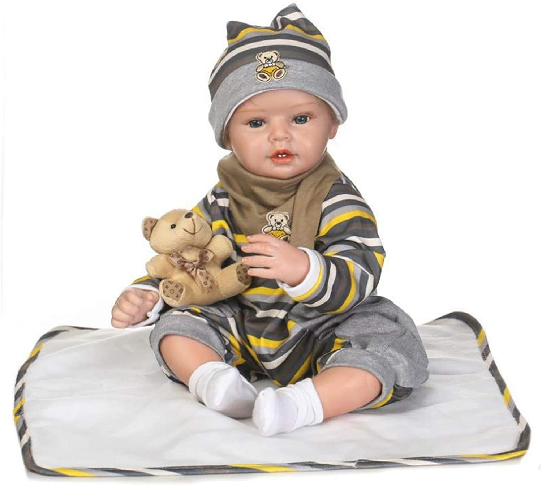 tienda de venta en línea NACHEN Reborn Baby Dolls Ojos Ojos Ojos Azules Hermosa Vida Real Suave Silicona Vinilo Realista Juguete recién Nacido bebé Regalo Realista muñecas 55 cm  autorización