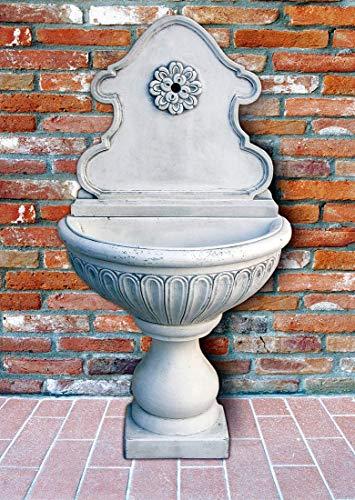 pompidu-living Standbrunnen Fiorenza - Brunnen aus Marmor in echter Handarbeit - Der ideale Gartenbrunnen in Terracotta, 146 x 77x 46 cm