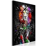 decomonkey Bilder Tiere Abstrakt 60x90 cm 1 Teilig Leinwandbilder Bild auf Leinwand Wandbild...