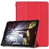 Foto Kepuch Custer Acer Chromebook Tab 10 Custodia - PU Pelle Folio Custodia Case Cover per Acer Chromebook Tab 10 - Rosso