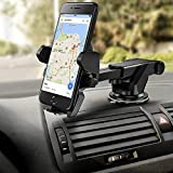HOJI® Car Mobile Phone Holder - Telescopic Neck Arm Adjustable Quick Stand Technology 360 Degree...