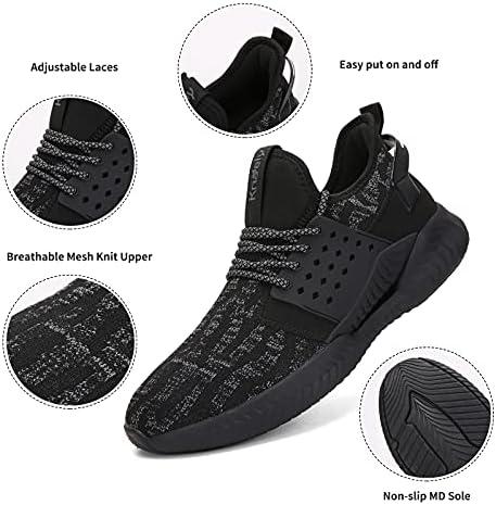 Kricely Men's Trail Running Shoes Casual Fashion Sneakers for Men Tennis Cross Training Shoe Outdoor Non-Slip Walking Footwear…