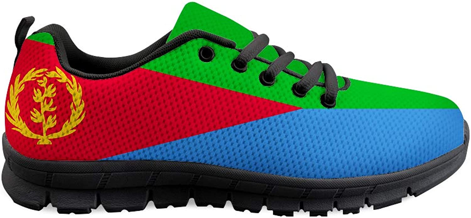 Owaheson Lace-up Sneaker Training shoes Mens Womens Eritrea Flag