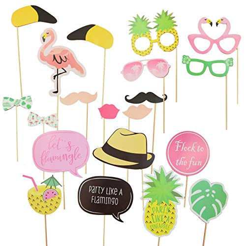 STREET 20 stks DIY fotografie Booth Props Party foto Flamingo Thema Ananas Masker Bril