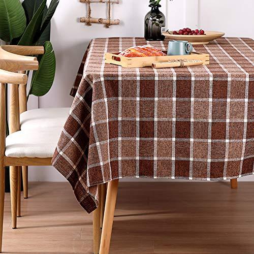 WEWE Oblong Tafelkleden, Olie-proof Waterdichte Tafelhoes Hittebestendige Rechthoekige Tafelmatten Voor Tuintafel Café Schrijven Bureau