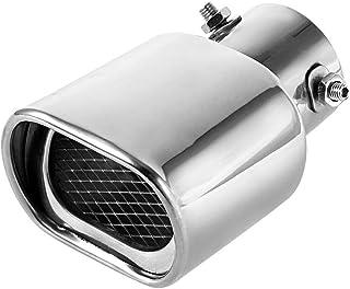 63mm(2,5 ') Auspuffspitzen Schalldämpfer Edelstahl Auto Auspuff Endrohr Quadrat Mund Verdickung Biegung
