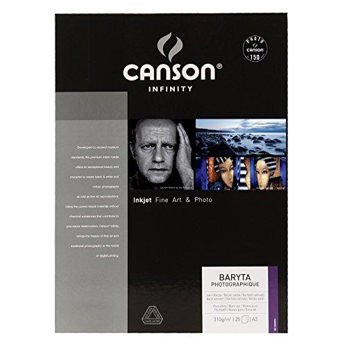 Canson 25 un. Fls Papel A3 Infinity Baryta Photograph 310g