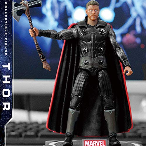 Hyzb Avengers Thor Figuras de Acción Juguetes -Titan héroe de Potencia Serie FX Figuras Regalo de cumpleaños Juguetes -Joint móvil Infinity War Figura Infantil (Color: Thor)