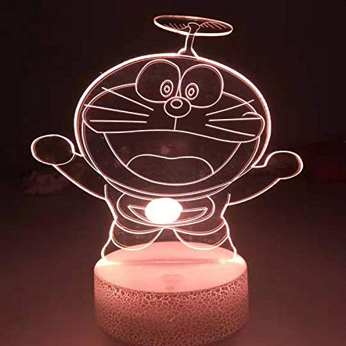 kinderkamer, USB-aansluiting, nachtlampje, kat, led, kleurrijk, touchscreen, 3D, nachtlampje, verjaardag, vakantie.