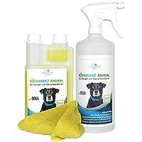 Ecosharkz neutralizador de olores en Spray para Perros - eliminador Natural de olores - Concentrado de Alto Rendimiento para Eliminar el Olor a orina (Rendimiento 25 litros listos para Usar)