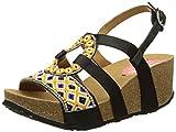 desigual bio9 anissa beads, scarpe col tacco con cinturino a t donna, nero (black 2000), 41 eu