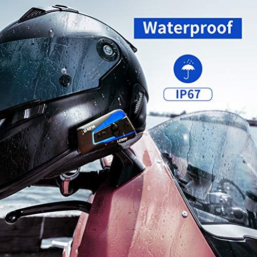 LEXIN B4FM 2X Motorrad Bluetooth Headset, Helm Intercom Geräuschreduzierung, Kommunikationssystem für Motorräder, Freisprechanlage bei Motorradfahren und Skifahren - 7